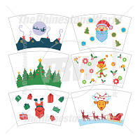 24oz Christmas Cup Mini Pack 1(With or Without Circle Logo)