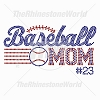 TRW Baseball Mom Rhinestone Template