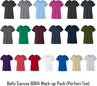 Bella Canvas Womens 6004 Perfect Tee Mock Up Pack