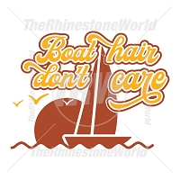 Boat Hair Don't Care Vector Design