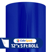 ColorSpark Metallic Adhesive Vinyl - Blue (5 Foot Roll)