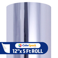 ColorSpark Metallic Adhesive Vinyl - Chrome (5 Foot Roll)