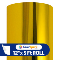 ColorSpark Metallic Adhesive Vinyl - Gold (5 Foot Roll)