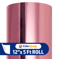 ColorSpark Metallic Adhesive Vinyl - Rose Gold (5 Foot Roll)