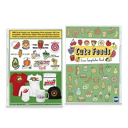 Cute Foods Live Templates Pack