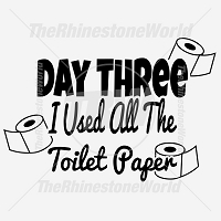 Day Three I Used All the Toilet Paper