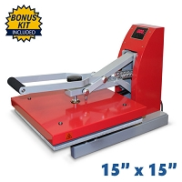 Red Digital Clam Heat Press - 15x15