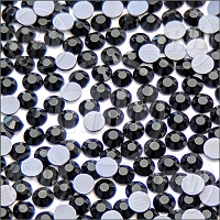 Diamond Cut Hot-Fix Jet Black SS10 Rhinestones 10-Gross