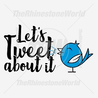 Let's Tweet About It Free Vector Design