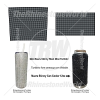 TRW Maars 20oz Skinny Steel and 12oz Can Cooler Rhinestone & Glitter Wrap Template Files