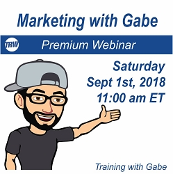 Marketing with Gabe - Sept. 1st 2018