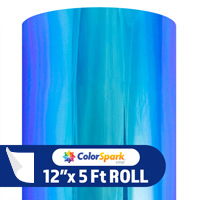 ColorSpark Opal Adhesive Vinyl - Peacock (5 Foot Roll)