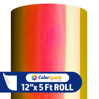 ColorSpark Opal Adhesive Vinyl - Sunset (5 Foot Roll)