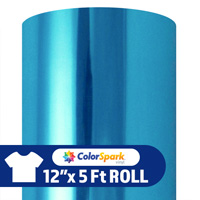 ColorSpark Soft Metallic Heat Transfer Vinyl - Calypso Blue (12