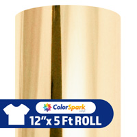 ColorSpark Soft Metallic Heat Transfer Vinyl - Champagne (12