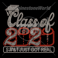 Class Of 2020 S#!T Just Got Real Rhinestone