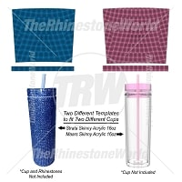 TRW Strata and Maars Skinny 16oz Full Rhinestone & Glitter Wrap Template Files