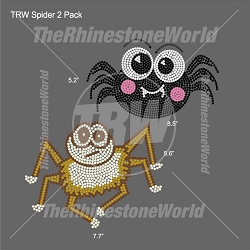 TRW Spider 2 Pack Rhinestone Design - Pre-Cut Template