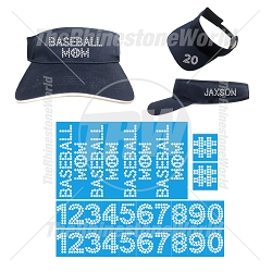 TRW Baseball Visor and Number Set Design Pack