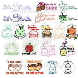 Cute Foods Live Template Mini Pack 5