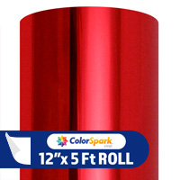 ColorSpark Metallic Adhesive Vinyl - Red (5 Foot Roll)