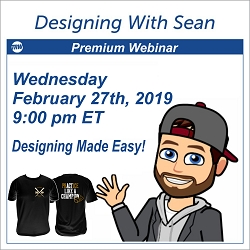 Designing with Sean - February 27th 2019