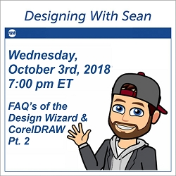 Designing With Sean - October 3rd, 2018