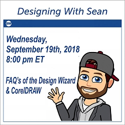 Designing with Sean September 19th, 2018