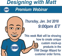 Designing with Matt - Jan 3rd 2019