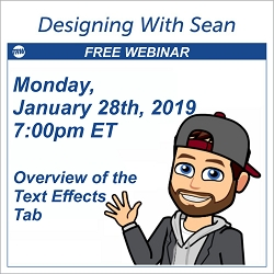 Designing with Sean - January 28 2019