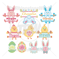 Easter Monograms Template Mini Pack