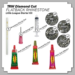 Little League Flatback Rhinestone Starter Kit