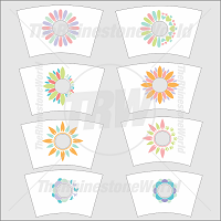 24oz Flower Cup Template Mini Pack