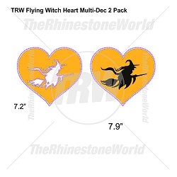 TRW Flying Witch Heart Multi-Dec Design 2 Pack