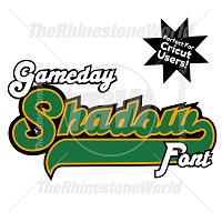 TRW Gameday Shadow Font w/ Elements