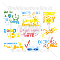 Good Vibes Live Template Mini Pack SVG