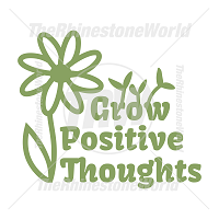 Grow Positive Thoughts Vector Design