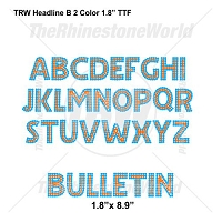 TRW Headline B 2 Color 1.8