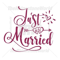 TRW Just Married SVG Vector Design