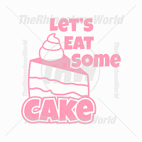 Let's Eat Some Cake Vector Design