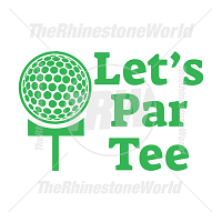 Let's Par Tee Vector Design