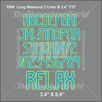TRW Long Weekend 2 Color B 3.4