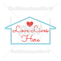Love Lives Here Vector Design