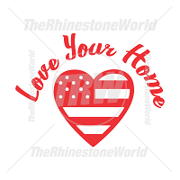 Love Your Home Vector Design