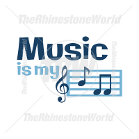 Music Is My BFF  Vector Design