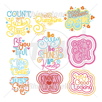 TRW Positive Thoughts Mini Pack SVG