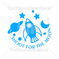 Shoot For The Moon Vector Design