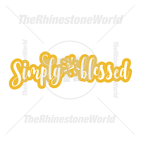 Simply Blessed Vector Design