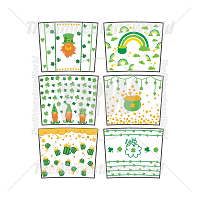 16oz Strata and Maars Skinny St.Patrick's Day Cup Template Mini Pack