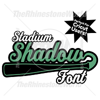 TRW Stadium Shadow Font w/ Elements